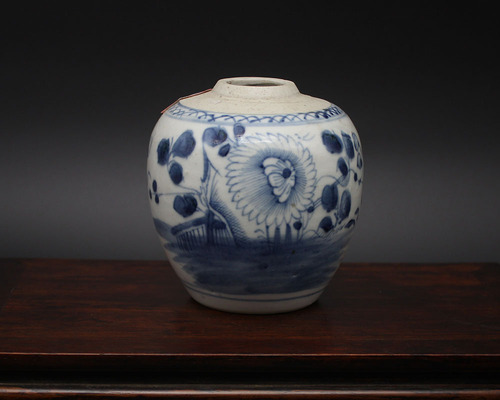 青花纹菊罐 CA-40